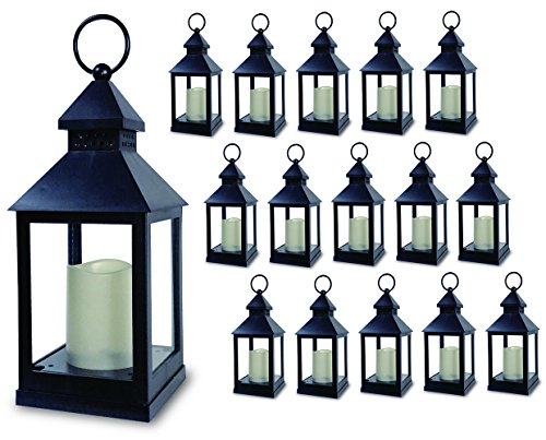 BANBERRY DESIGNS Decorative Lantern - Set of 16-5 Hour Timer - 11