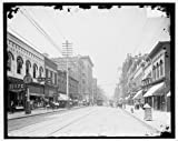 Photo: Looking north,commercial buildings,Gay Street,Clinch Avenue,Knoxville,TN,1900