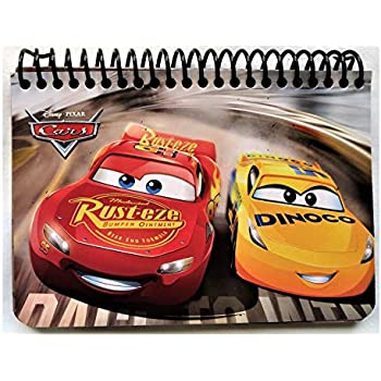 Disney Authentic Licensed Spiral Autograph Book Memo Notepad (Cars Rust.eze Dinoco)