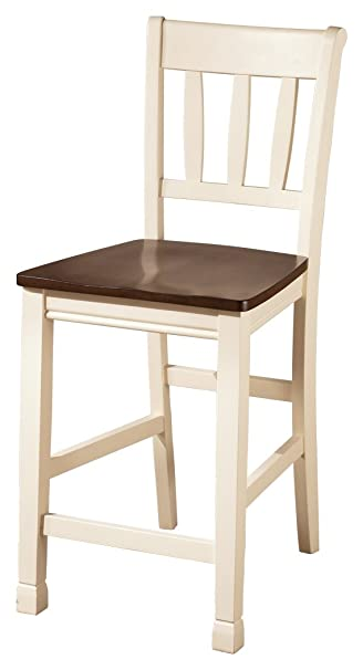 Ashley Furniture Signature Design   Whitesburg Bar Stool   Set Of 2   Cream  Frame With