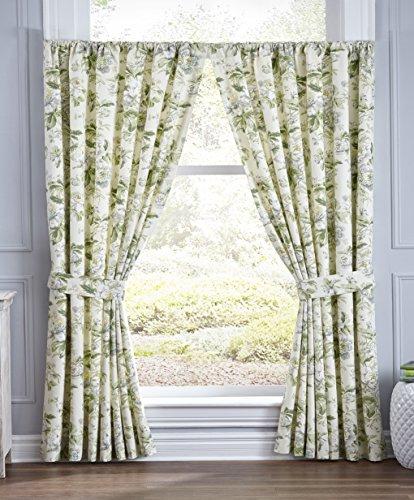 Waverly 15554100X084SPR Window Panel Pair, 100″ x 84″, Spring