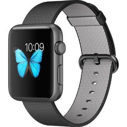 Apple Watch SPORT 42mm スペースグレイアルミニウムケースとブラックウーブンナイロン