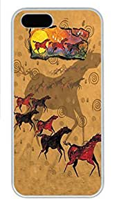 For HTC One M7 Phone Case Cover Wild Red Horses PC Hard Plastic For HTC One M7 Phone Case Cover Whtie