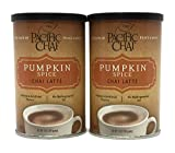 New Flavor - Pumpkin Spice Chai Latte - Pacific Chai 2 - 10 ounce Canisters, Instant, Powdered