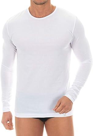 Camiseta Interior de Hombre de Manga Larga - ZD Zero Defectes - Algodón Egipcio - Tallas y Colores Disponibles: Amazon.es: Ropa y accesorios