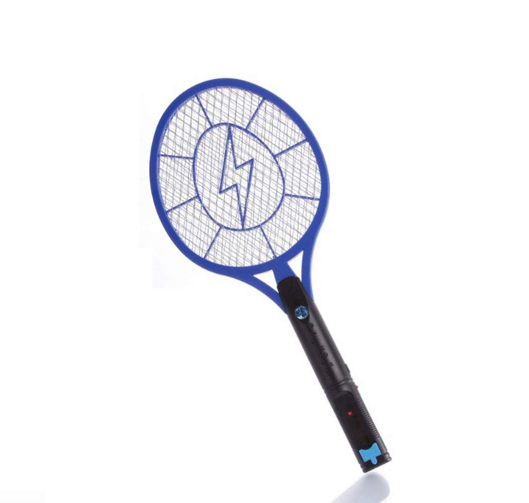 Rechargeable Mosquito swatter, Fly Killer and Bug Zapper Racket,3000 Volt USB Charging, Super-Bright Led Light to Zap in The Dark Unique 3 Layer Safety Mesh That's Safe to Touch