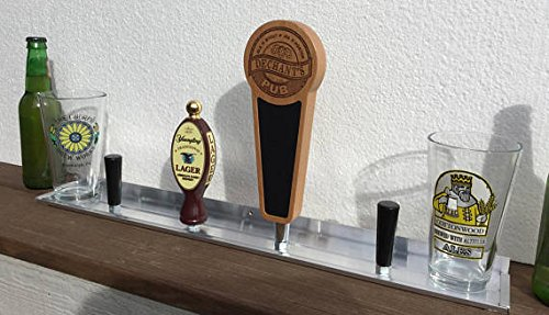 (Beer TAP HANDLE SHELF // Display & Storage // Home Brewery // Kegs // Taps // Kegerator // Man Cave)