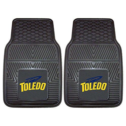 Toledo Rockets Car Mats (NCAA University of Toledo Heavy Duty Vinyl Car Mat (2 Piece), Small, Black)