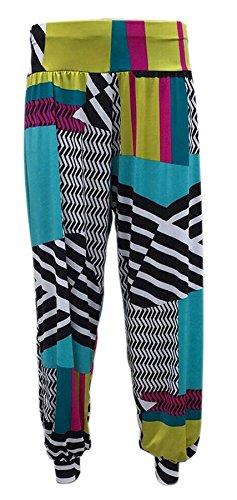 Donna Elasticizzato Casual Formati 26 Taglie Pantaloni Lunghezza Piena Da Abstrract Forti Harem 12 pd0z8xqT