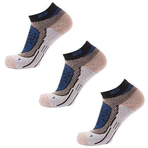 - Zensah Copper Running Socks, Navy, Medium (3 Pack)