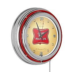 Miller High Life 14 Inch Neon Wall Clock