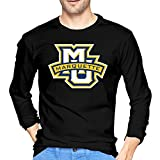 Marquette Golden Eagles Logo Tshirts Black For Men's Long-Sleeved