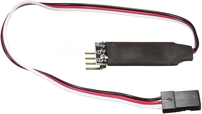 3 Kanäle Steuerschalter Empfänger Kabel Modellauto 2 LEDs Lichter Für RC Auto