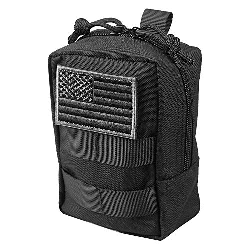 AMYIPO MOLLE Pouch Multi-Purpose Compact Tactical Waist Bags Small Utility Pouch (Black Small Pouch -1)