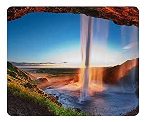 Mouse Pad Arch Waterfall Desktop Laptop Mousepads Comfortable Office Mouse Pad Mat Cute Gaming Mouse Pad