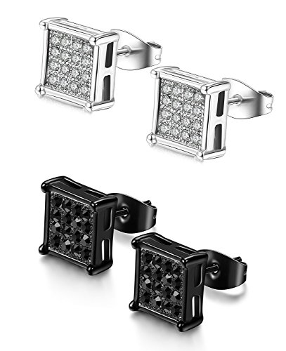 FIBO STEEL Stainless Earrings Piercings