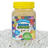 Magic Beadz - Clear Gel Water Beads - Transparent Jelly Pearls - Vase Filler - Wedding Centerpiece - Candles - Flower Arrangements - Over 30,000 Beads - 11oz Jar Makes Over Ten Gallons (11oz, Clear)