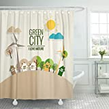 Best Planet Dog Dog Whistles - Emvency Shower Curtain Energy Green Planet Eco Friendly Review