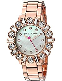 Women's Quartz Stainless Steel and Alloy Casual Watch, Color Rose Gold-Toned (Model: BJ00612-03)