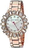 Betsey Johnson Women's Stainless Steel Quartz Watch with Alloy Strap, Rose Gold (Model: BJ00612-03)
