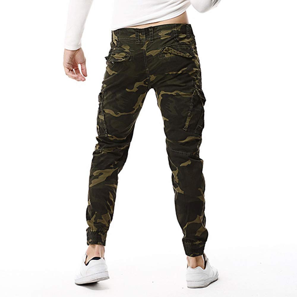 Pantalón Hombre Bolsillo hombres Para Algodón Moda Casual Multi Al rfHrnpax