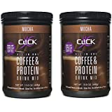 CLICK Coffee Protein, Protein & Real Coffee All-In-One, Meal Replacement Nutrition Drink, Mocha Flavor 15.8-Ounce Canister (Pack of 2), 23 Essential Vitamins, Double Shot Espresso Coffee, Hot or Cold