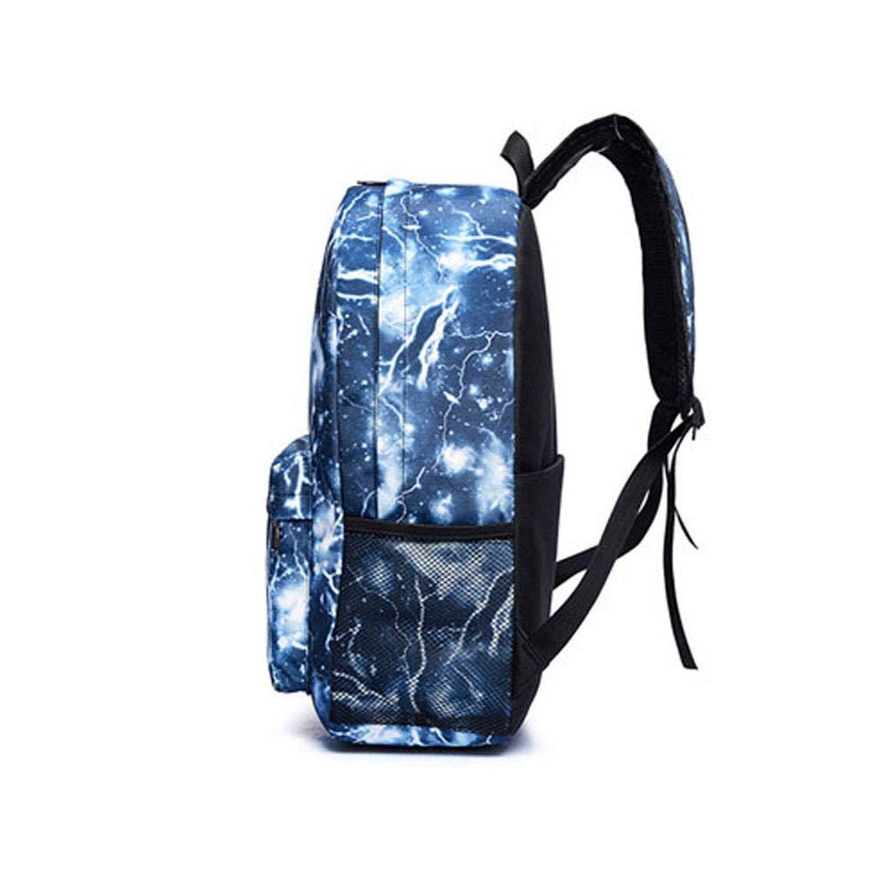 958a65ff8c3b Gorgebuy Luminous Backpack - Galaxy Schoolbag Glow In Dark Backpack Rucksack  Laptop Book Satchel Hiking Bag for Boys Girls + Woven Bracelet   Amazon.co.uk  ...