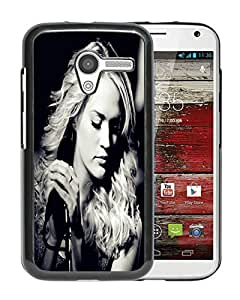 Carrie Underwood 02 Black Hard Plastic Motorola Moto X Phone Cover Case
