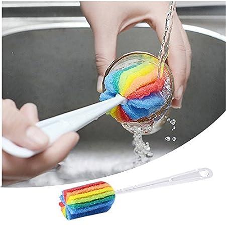 Utensile da cucina design Sponge Cup Brush scovolino per pulizia, beige CN