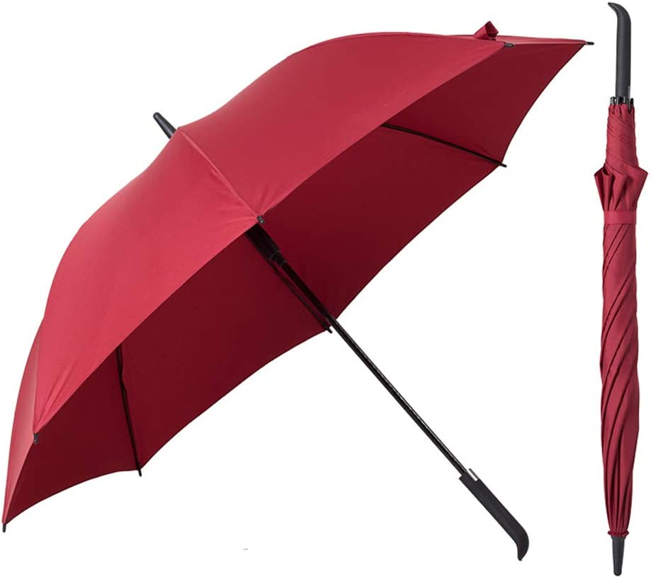 Yuany Semi-Automatic Personality Creative Trend Oversized Reinforced Retro Long Handle Outdoor Travel Business Umbrella