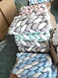 Baby Crib Bumper Knotted Braided Plush Nursery
