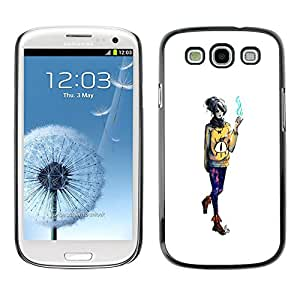 Caucho caso de Shell duro de la cubierta de accesorios de protección BY RAYDREAMMM - Samsung Galaxy S3 - Mago de la muchacha