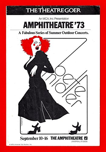 BETTE MIDLER Universal Studios Concert BARRY MANILOW 1973 Los Angeles Playbill