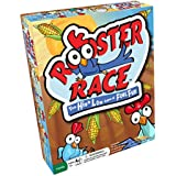 Rooster Race Family Board Game – High Low Guessing Game to Improve Memory and Counting with Fun Cards and Yellow Corn for All Ages, Kids and Adults 5 Years and Up