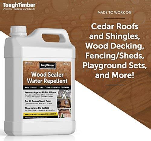 Amazon ToughTimber Waterproof Deck Sealer Wood Sealer Cedar