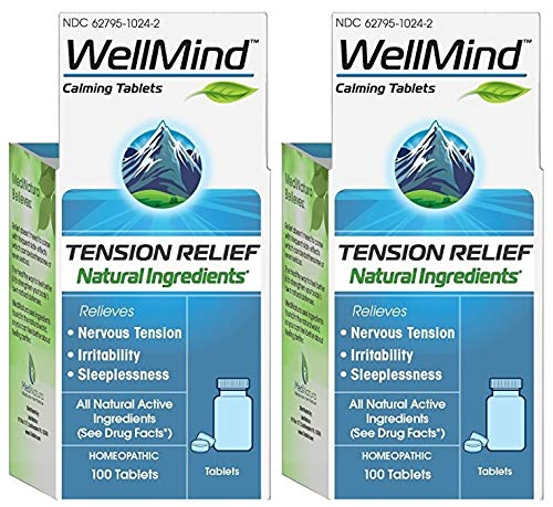 MediNatura WellMind Calming Tablets (Pack of 2), 100 Tablets -