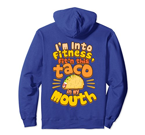 Unisex Fitness Taco - Funny Gym Mexican Food Joke Hoodie Large Royal Blue