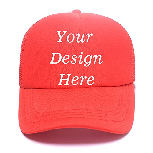 Custom Ball Caps (Custom Hats - Design Your Personalized Photo or Text Classic Trucker Hat)