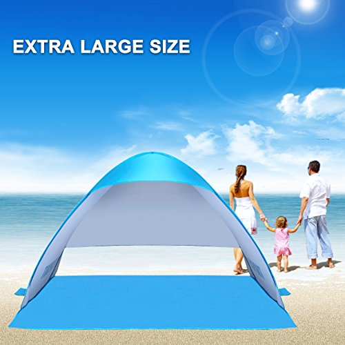 Lightweight Beach TentIEFSPORT 2-3 Person Automatic Pop UP Outdoor Anti UV C&ing Sun Shelter Quick Family Cabana Beach Shade Instant Canopy Portable (1kg ...  sc 1 st  Summer Products Store & Lightweight Beach TentIEFSPORT 2-3 Person Automatic Pop UP ...