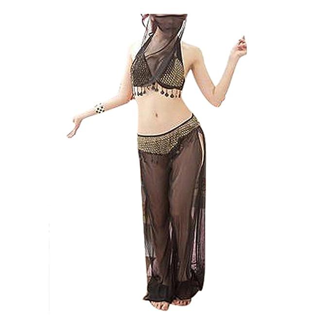 TOOGOO(R)) Sexy danza del vientre encaje blusa Top sujetador Dancewear Disfraces