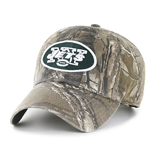 NFL New York Jets Men's OTS Challenger Adjustable Hat, Realtree, One Size