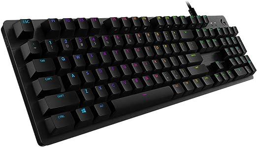 Logitech G512 Teclado Gaming Mecánico, RGB LIGHTSYNC, Teclas retroiluminadas, GX-Táctil Marrón, Aleación de Aluminio, Teclas F Personalizables, Paso ...
