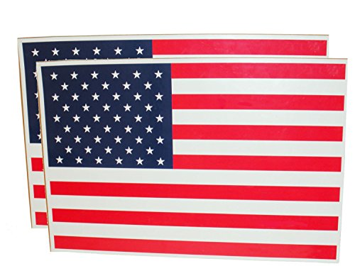 """Set of 2 - 12"""" x 17 7/8"""" Large American Flag Magnets"""