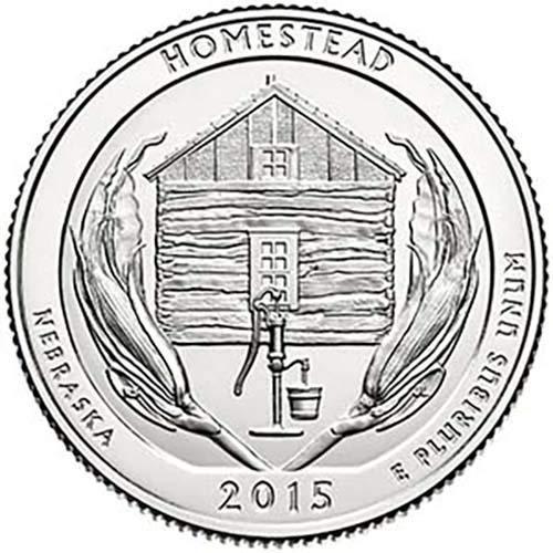2015 P BU Homestead Nebraska National Park NP Quarter Choice Uncirculated US Mint