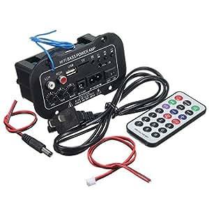 Ils - Mono Digital Amplificador Tarjeta 220V Coche Bluetooth Amplificador de Sonido