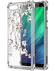 Oihxse Cristal Compatible con Samsung Galaxy Note 8 Funda Transparente TPU Silicona Estuche Airbag Esquinas Anti-Choque Anti Rasguños Diseño Rosa Flower Caso (Flores A5)