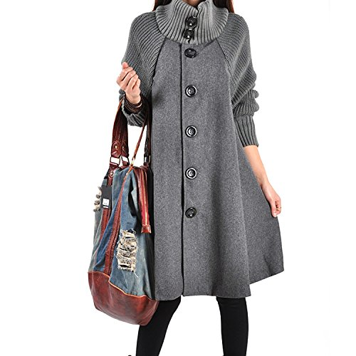 Tunique Femme Taille line Sweatshirt Veste Manteau Top Robe Swing Unie nbsp;Gilet Over Casual Gris Long Oversize Pull Robe JLTPH Sweat Jumper Grande A ZHftA