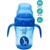 Mee Mee 210ml 2 in 1 Spout and Straw Sipper Cup (Blue)