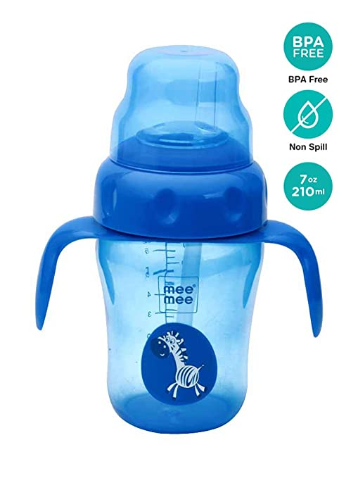 e359205ddb0 Buy Mee Mee 210ml 2 in 1 Spout and Straw Sipper Cup (Blue) Online at Low  Prices in India - Amazon.in