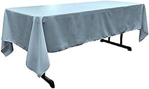 LA Linen Polyester Poplin Rectangular Tablecloth, 60